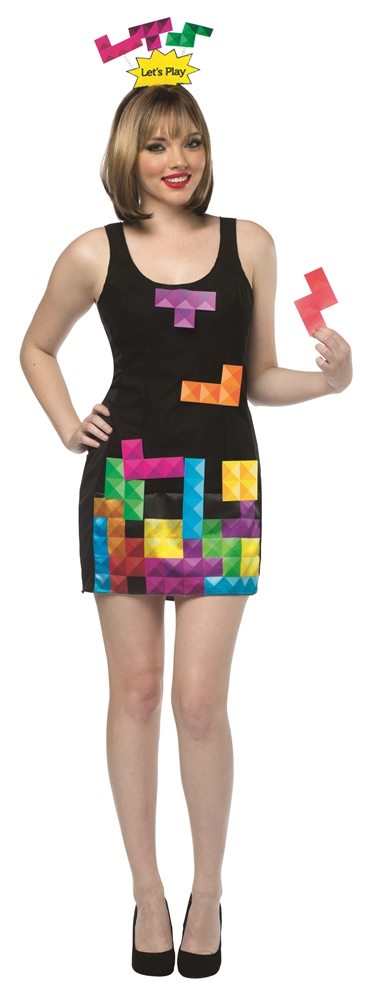 Picture of Tetris Interactive Dress Adult Womens Costume