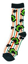 Picture of St. Patrick's Day Striped Socks