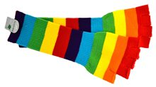 Picture of Striped Rainbow Fingerless Gloves