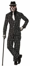 Picture of Bone Pinstriped Suit Adult Mens Costume