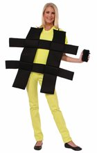 Picture of Hashtag Adult Unisex Costume