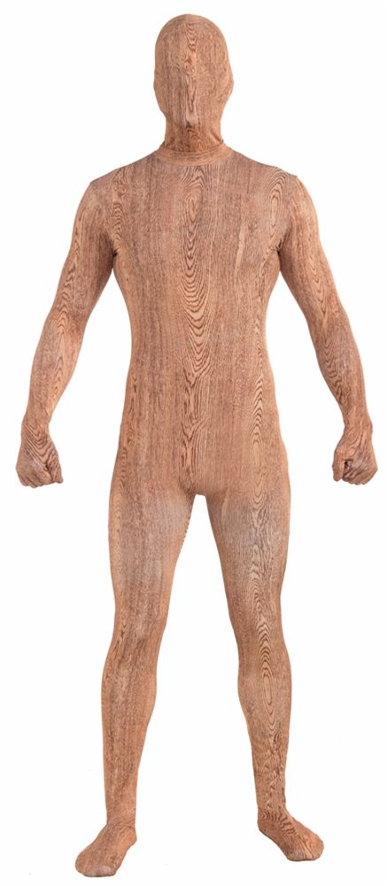 Picture of Wood Plank Skin Suit Adult Mens Costume