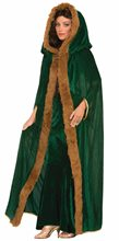 Picture of Faux Fur Trimmed Cape Adult Womens Costume