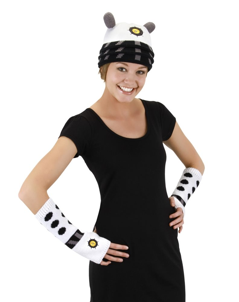 Picture of Doctor Who White Dalek Arm Warmers (Ships for $1.99)