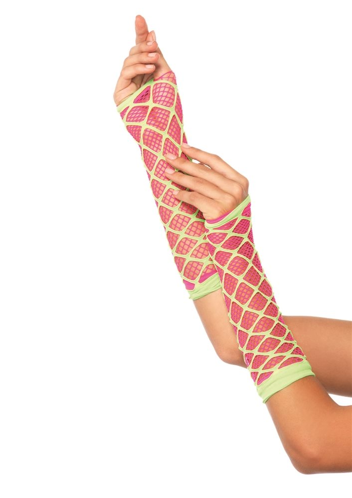 Picture of Dual Net Neon Arm Warmers