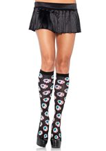 Picture of Creepy Eyeball Knee High Socks