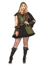 Picture of Darling Robin Hood Adult Womens Plus Size Costume