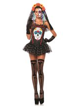 Picture of Sugar Skull Adult Womens Bustier