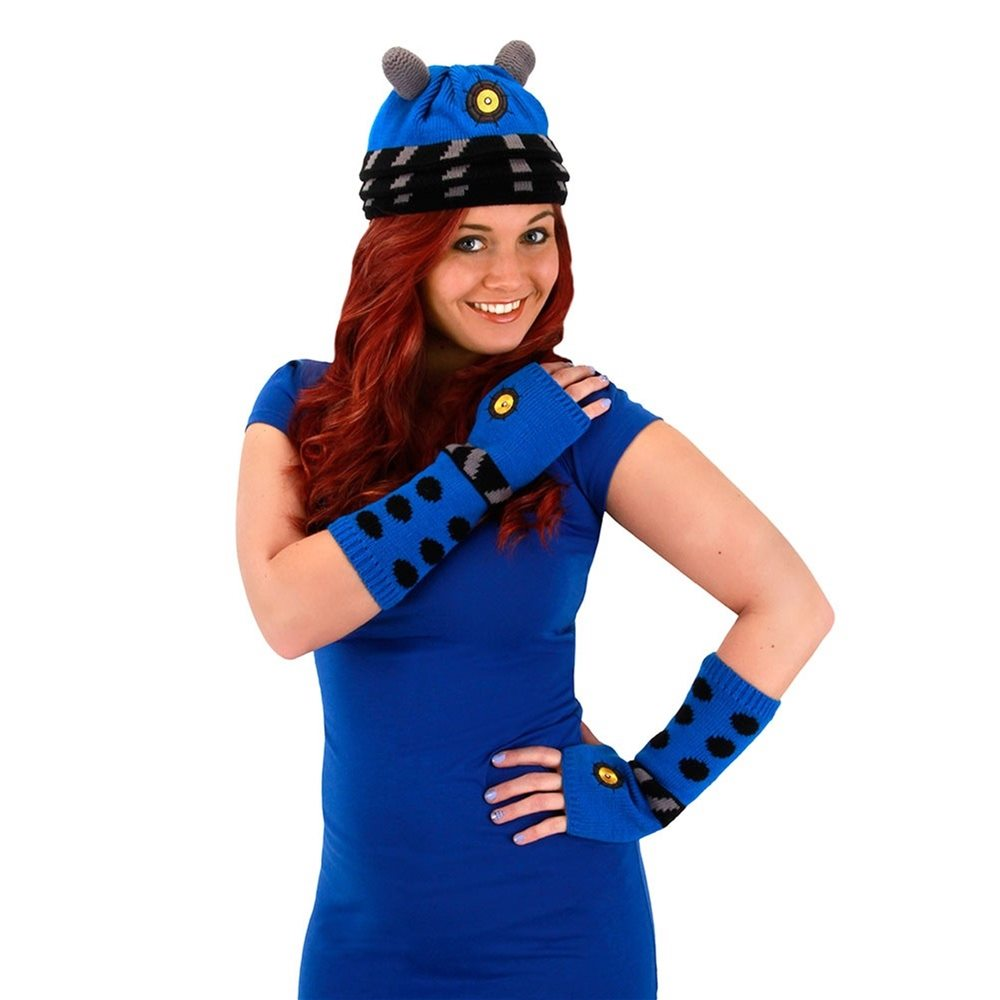 Picture of Doctor Who Blue Dalek Arm Warmers (Ships for $1.99)