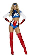 Picture of Pretty Patriot Sexy Hero Adult Womens Costume