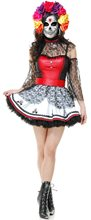 Picture of Dia de Los Muertos Dress Adult Womens Costume