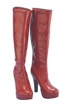 Picture of Red Platform Adult Womens Boots