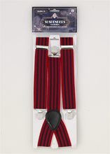 Picture of Roaring 20s Red & Blue Striped Suspenders