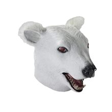 Picture of Polar Bear Deluxe Latex Mask with Hair