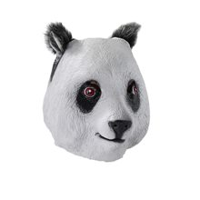 Picture of Panda Deluxe Latex Mask with Hair