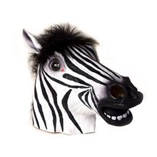 Picture of Zebra Deluxe Latex Mask with Hair