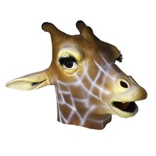 Picture of Giraffe Deluxe Latex Mask