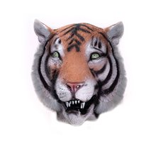 Picture of Tiger Deluxe Latex Mask with Hair