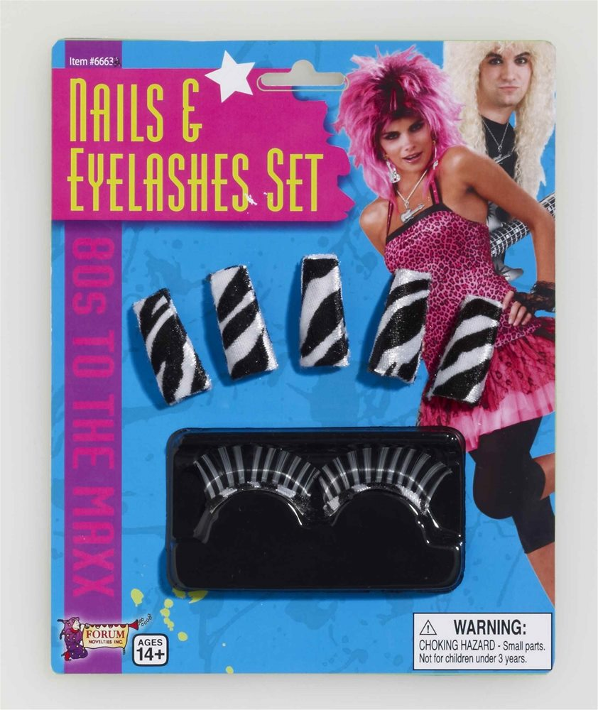 Picture of 80s to the Max Nails & Eyelashes Set