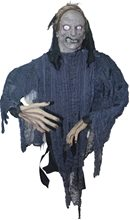 Picture of Grey Zombie Hanging Prop