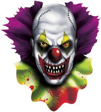 Picture of Creepy Carnival Clown Cutout