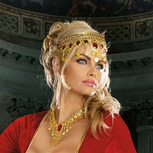 Picture of Dripping Rubies Gold Headpiece
