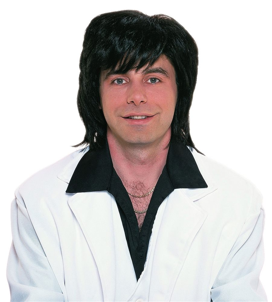 Picture of 1970s Black Shag Wig