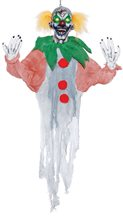 Picture of Sinister Hanging Clown Prop