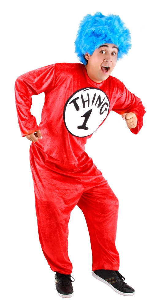 Halloweeen Club Costume Superstore. Dr. Seuss Thing 1 2 Classic ... ec1a8c702