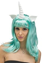 Picture of Unicorn Fantasy Teal Wig with Ears