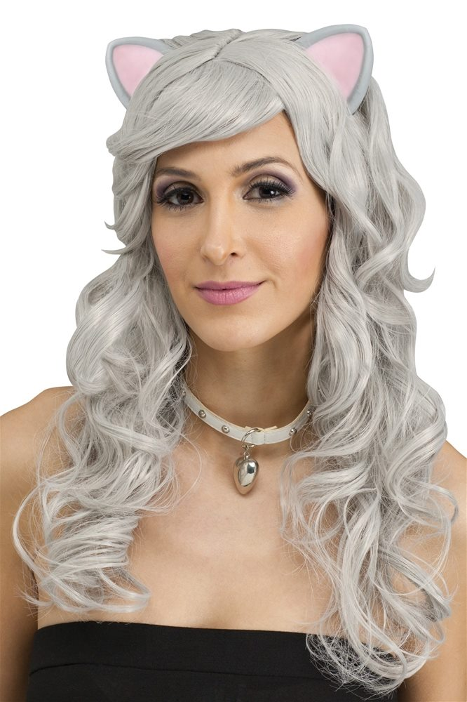 Picture of Mouse Fantasy Grey Wig with Ears