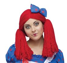 Picture of Raggedy Ann Adult Wig