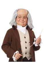 Picture of Colonial Ben Franklin Child Wig