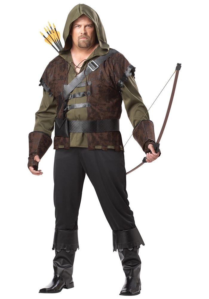 Picture of Robin Hood Adult Mens Plus Size Costume