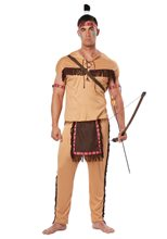 Picture of Native American Warrior Adult Mens Costume