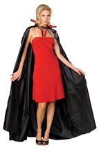 Picture of Long Black Satin Vampire Cape