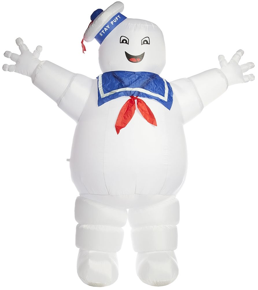Ghostbusters Stay Puft Marshmallow Man Head Baby Body Suit Infant Romper Costume