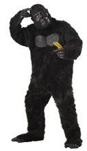 Picture of Black Gorilla Adult Mens Plus Size Costume
