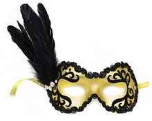Picture of Apollonia Side Feather Velvet Mask