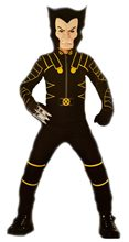 Picture of X-Men the Movie Wolverine Black Jumpsuit Child Costume
