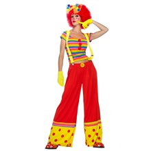 Picture of Moppie the Rainbow Clown Adult Womens Costume