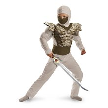 Picture of Desert Camo Classic Muscle Ninja Child Costume