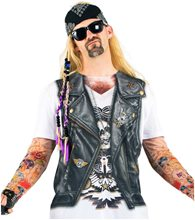 Picture of Tattooed Biker Adult Mens Long Sleeve T-Shirt