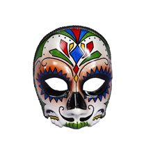 Picture of Day of the Dead Male Mask with Comfort Arms