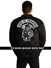 Picture of Sons of Anarchy Mechanic Screen Printed Adult Jacket