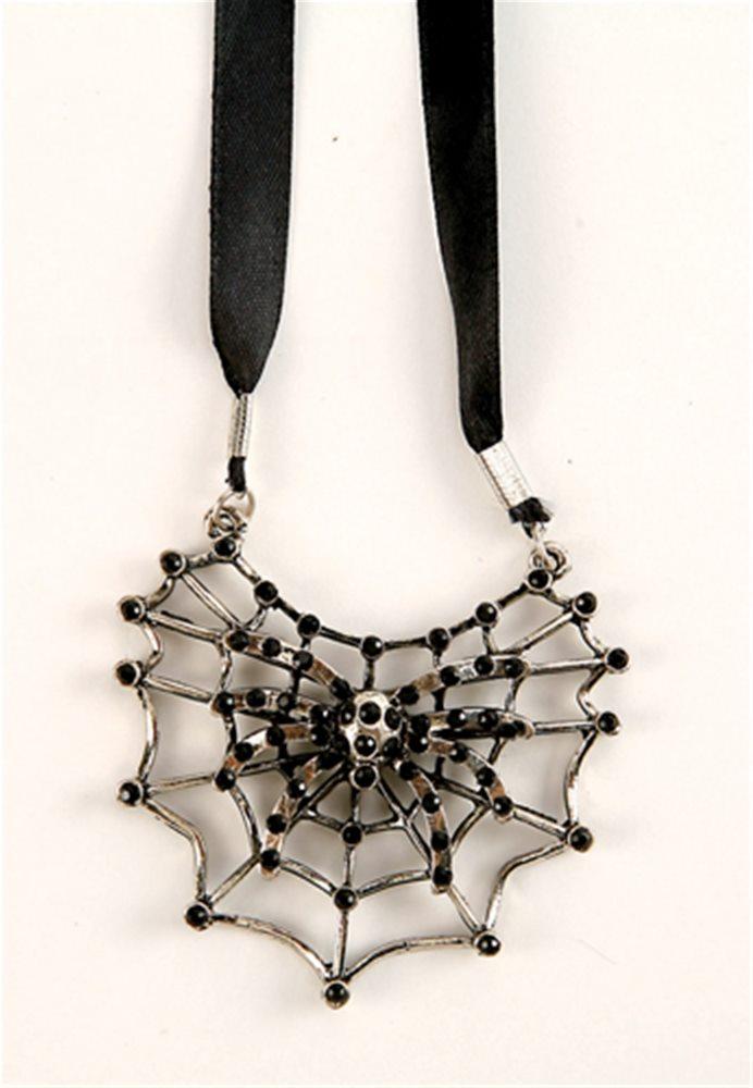 Picture of Spiderweb Black Gem Necklace
