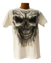 Picture of Drawn Skeleton Face Adult T-Shirt