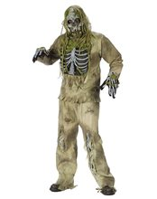 Picture of Skeleton Zombie Adult Mens Plus Size Costume