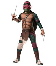 Picture of Ninja Turtles Movie Deluxe Muscle Raphael Child Costume