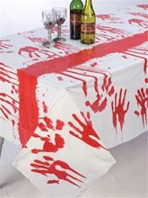 Picture of Bloody Handprints Tablecloth